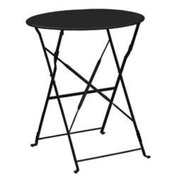 Τραπέζι Πτυσ/νο Φ60cm Μεταλλκό Μαύρο