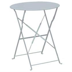 Τραπέζι Πτυσ/νο Φ60cm Μεταλλικό Άσπρο