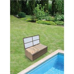 Τραπέζι 110Χ60 με αποθηκευτικό χώρο rattan / αλουμ.