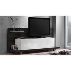 Panel TV μαύρο δρυς-λευκό