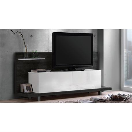 Panel TV black oak - white