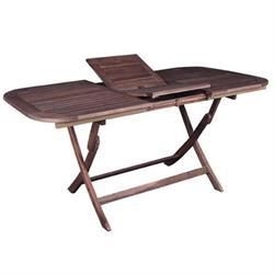 Τραπέζι 160(120+40) x80 εκ Επεκτεινόμενο και Πτυσόμενο Acacia