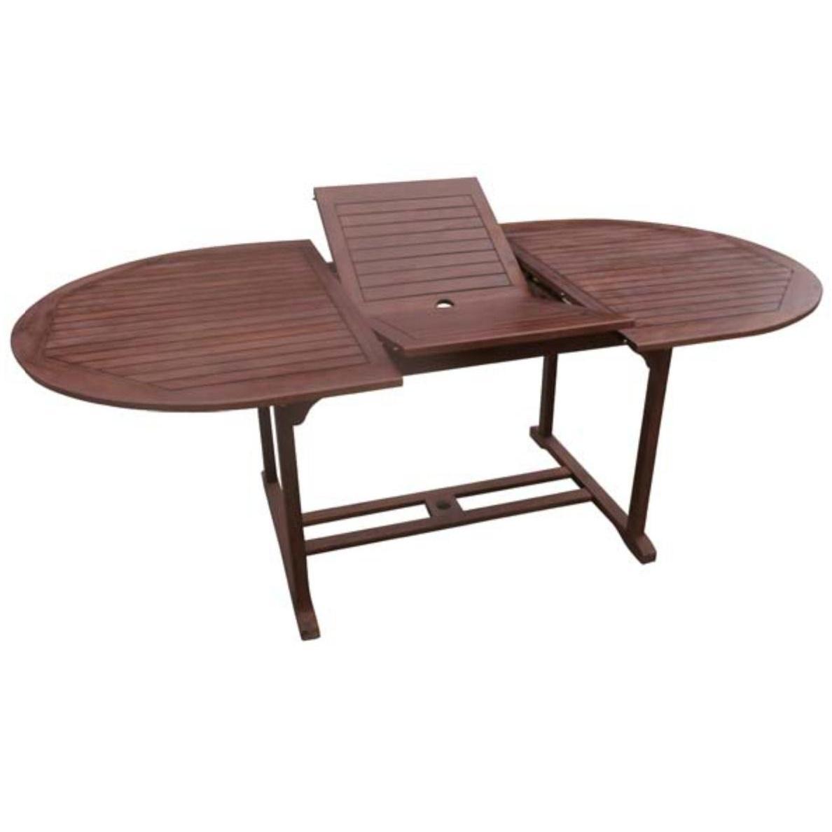 Extending Oval Table 200 150 50 X100 Acacia