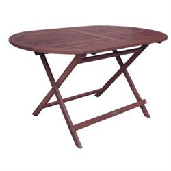 Folding TABLE 120x70cm Oval ACACIA