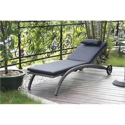 Lounger Gray with wheels & cushion
