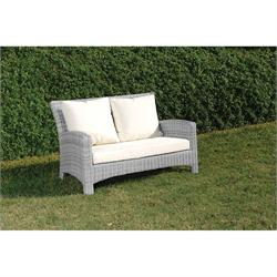 2s sofa Rattan / alu Light gray