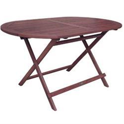 Τραπέζι 120x70 Oval Πτυσ/νο Keruing