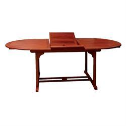 Τραπέζι 160(120+40) x80 Οβαλ Επεκτεινόμενο Keruing