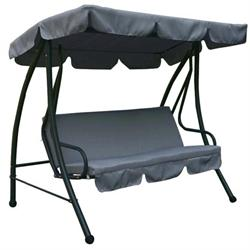 SWING 3-S - Bed Steel Dark Grey / Fabric Grey