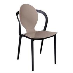 Καρέκλα PP Μπεζ / Μαύρο