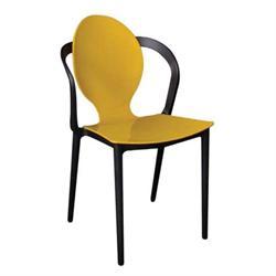 Καρέκλα PP Κίτρινο / Μαύρο