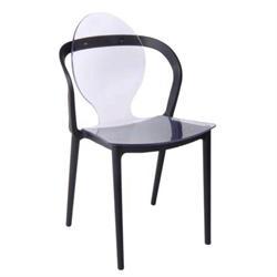 Καρέκλα PC Clear / PP Μαύρο