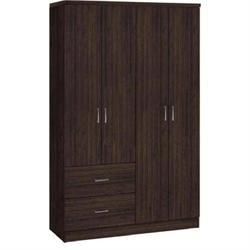 Ντουλάπα 4-πόρτες Wenge 119x42x180
