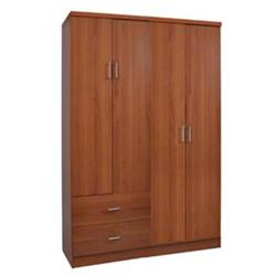 WARDROBE 4-doors Cherry 119x42x180