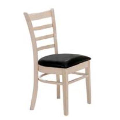 Καρέκλα White Wash / Pu Μαύρο