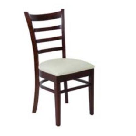 Καρέκλα Σκ.Καρυδί / Pu Εκρού