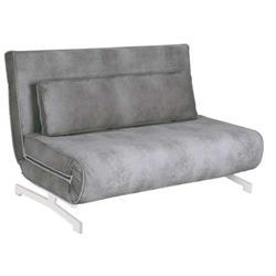 Καναπές 2 θέσιος - Κρεβάτι Ύφασμα Γκρι