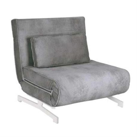 ARMCHAIR - BED, GREY FABRIC