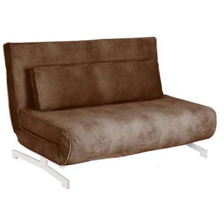 Καναπές 2 θέσιος - Κρεβάτι Ύφασμα Καφέ
