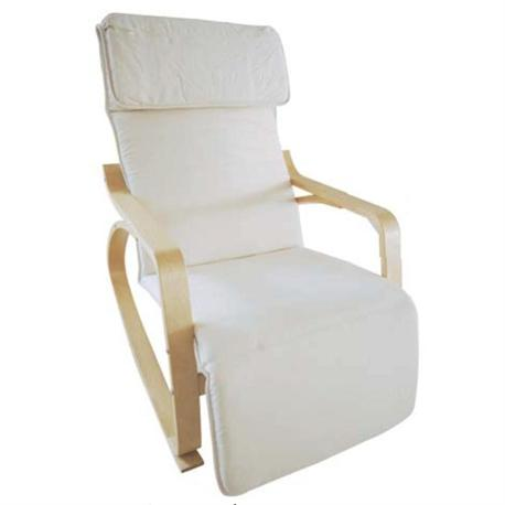 Armchair Super Relax NATURAL (Birch) / WHITE