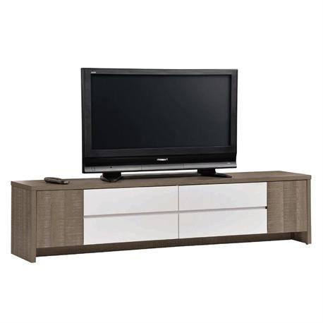 Έπιπλο TV 4συρτάριa καρυδί δρυς - λευκό
