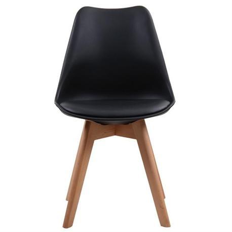 Καρέκλα μαύρη ΡΡ-κάθισμα PU