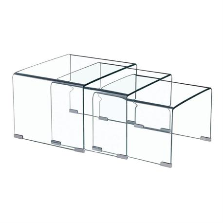 Set 3tables glass 10mm