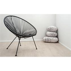 Armchair pl. rattan black