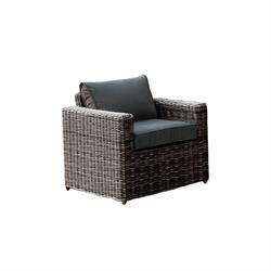 Armchair Wicker Grey Brown