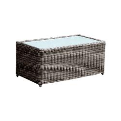 Coffee table Wicker Grey Brown
