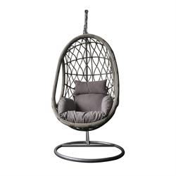 Swing chair grey / cappucino