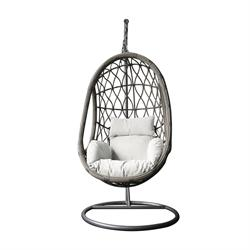 Swing chair grey / white