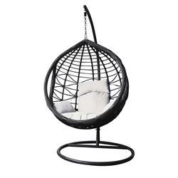 Swing chair dark grey / white