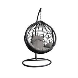 Swing chair dark grey / grey
