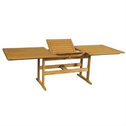 Rectangular table Acacia Wood 80X140+40 cm