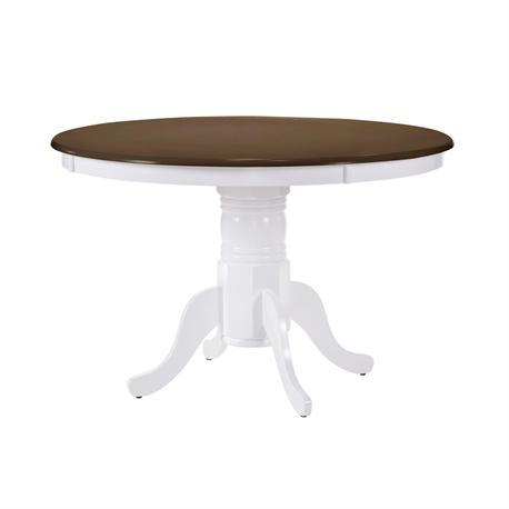 Table walnut / White Φ101 X 75 cm