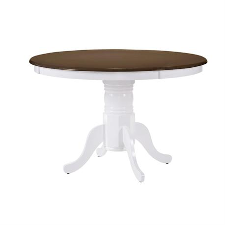 Table walnut / White Φ101+30 X 75 cm