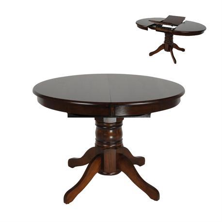 Τραπέζι Καρυδί Φ101+30 Χ 75 εκ