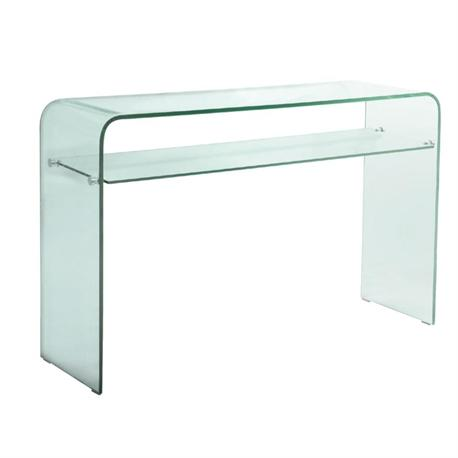 Console glass 1 shelf 12mm tempered