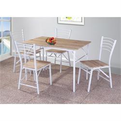 Set folding (Table + 4 Chairs) White / Somona