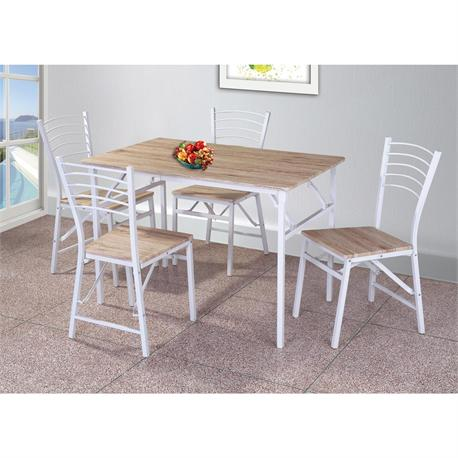 Set folding (Table + 4 Chairs) White / Somona