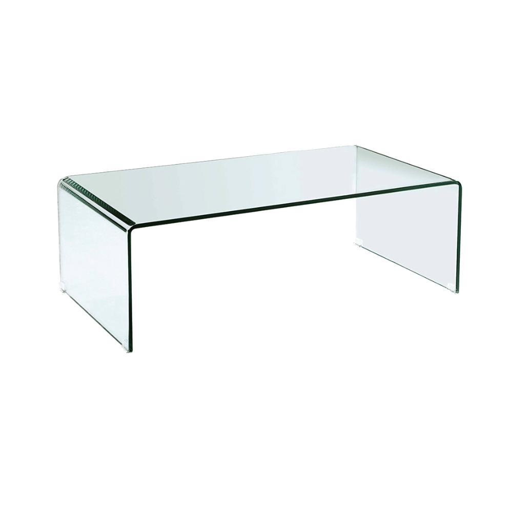 White Coffee Table With Black Tempered High Gloss Glass: Coffee Table Glass 12mm Tempered