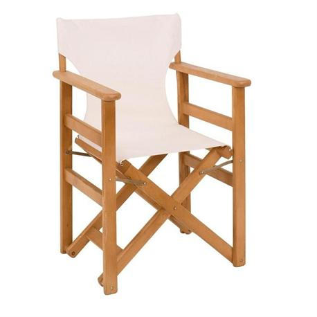 Directors folding armchair natural