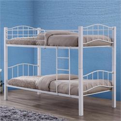 Κρεβάτι - Κουκέτα λευκό μέταλλο ξύλο