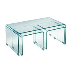 Coffee table glass 12mm tempered+2small