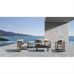 Σετ σαλόνι (2θ καναπές - 2 πολυθρόνες - τραπέζι - βοηθ. τραπεζάκι)