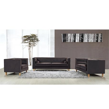 Living room set dark brown