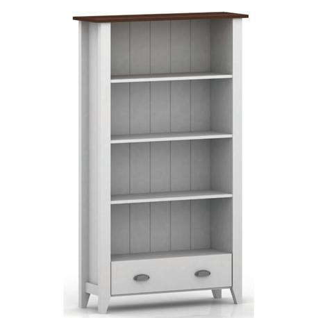 Bookcase white-walnut