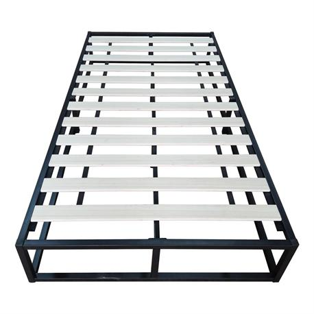 Substrate bed /steel black 90X200X24 cm