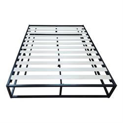 Substrate bed /steel black 160X200X24 cm